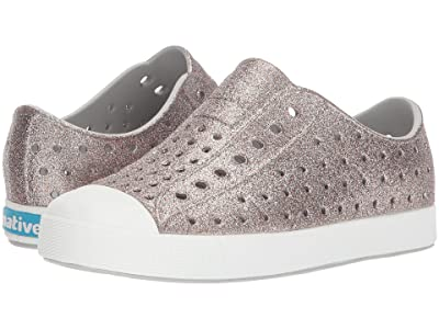 Native Kids Shoes Jefferson Bling Glitter (Toddler/Little Kid) (Metal Bling/Shell White) Girls Shoes