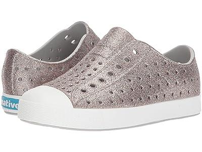 Native Kids Shoes Jefferson Bling Glitter (Little Kid) (Metal Bling/Shell White) Girls Shoes