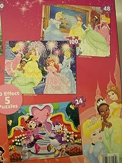 Disney Princess, Fairies, and Minnie Mouse Bow-tique Super 3D Five Puzzle Pack