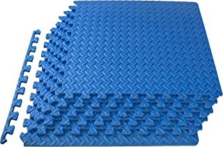 Prosource 拼图运动垫, EVA 泡沫互扣瓦,防护木地板适用于健身房设备和靠垫适用于 workouts