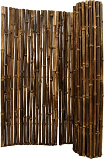 Natural Black Bamboo Fencing 1
