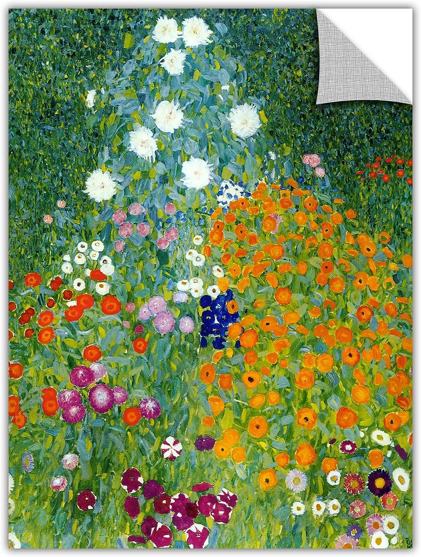 ArtWall Appealz Gustav Klimt Removable Graphic Wall Art, 18 by 24Inch, Farm Garden