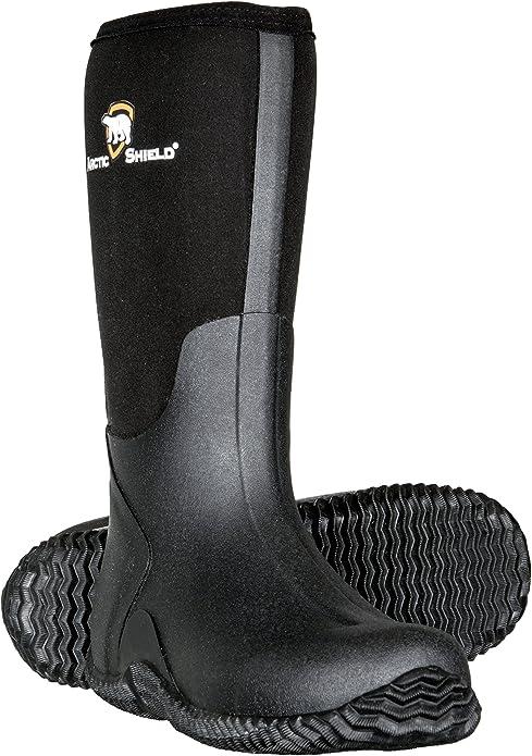 ArcticShield Men's Waterproof Insulated Rubber Outdoor Boots