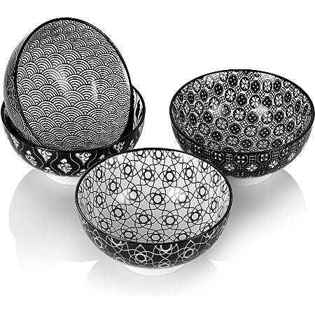 vancasso, série Haruka, Bol céréal, 4 pièces, en Porcelaine, Style Japonais