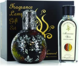 ASHLEIGH & BURWOOD PFL702B Oriental Woodland and Moroccan Spice Fragrance Lamp Gift Set, Large, Black