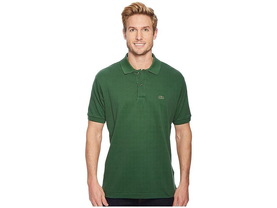 Lacoste Short Sleeve Classic Pique Polo Shirt (Green) Men
