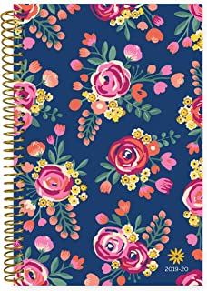 """bloom daily planners 2019-2020 Academic Year Day Planner Calendar (August 2019 Through July 2020) - 6"""" x 8.25"""" - Weekly/Monthly Yearly Agenda Organizer with Tabs - Vintage Floral"""