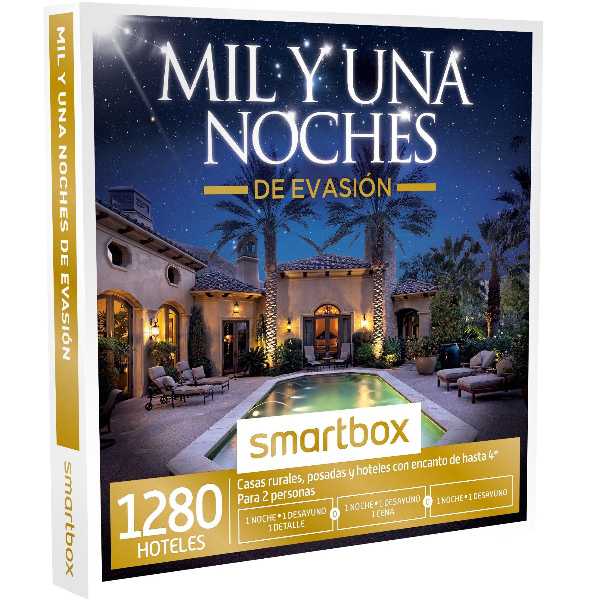 SMARTBOX - Caja Regalo -MIL Y UNA NOCHES DE EVASIÓN - 1280 casas rurales y hoteles con encanto de hasta 4* en España, Italia, Francia o Portugal: Amazon.es: Deportes y aire libre