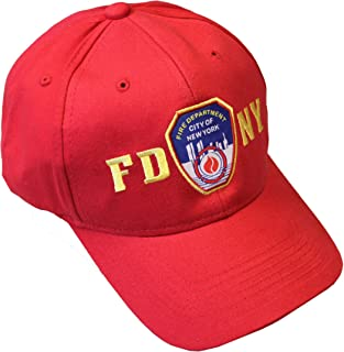 FDNY Junior Kids Baseball Hat Fire Department of New York Red One Size