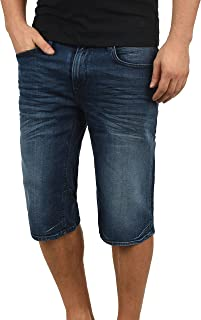 ae6fe0b44ee84 Blend Denon Short en Jean Pantalon Court Denim pour Homme Extensible Coupe  Régulaire