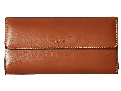 Lodis Accessories Audrey RFID Checkbook Clutch (Sequoia/Papaya) Wallet Handbags