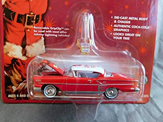 Coca-Cola 1958 Chevy Impala Holiday Ornament with Removable Hanger Santa Claus Card 1:64 scale die-cast by Johnny Lightning