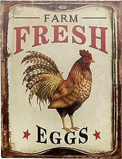 Barnyard Designs Farm Fresh Organic Eggs Retro Vintage Tin Bar Sign Country Home Decor 10