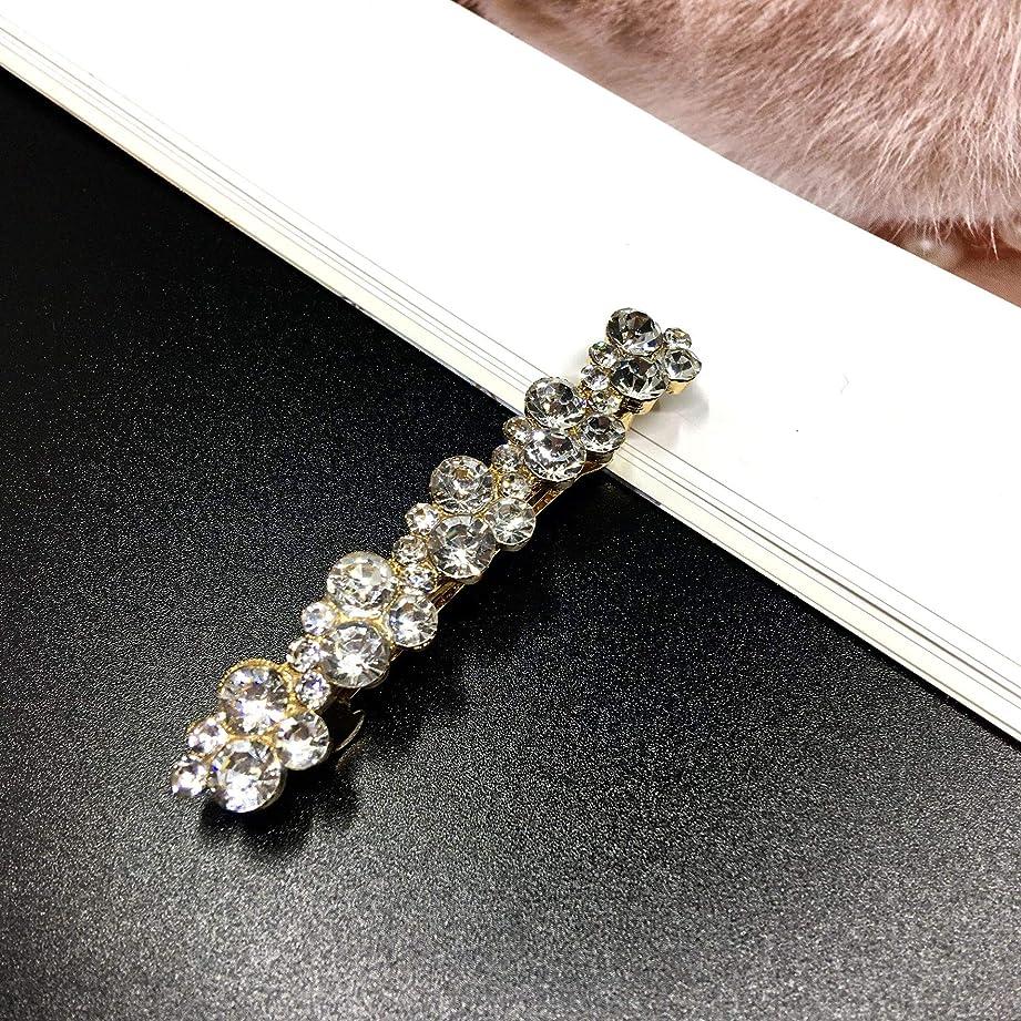冬刺繍コンパニオンHuaQingPiJu-JP ファッションシンプルなヘアピン便利なビンテージヘアクリップウェディングヘッドウェア(ホワイト)