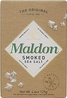 Maldon Salt, Smoked Sea Salt Flakes, 4.4 oz (125 g), Kosher, Natural, Gently Smoked Over Oak, Handcrafted, Gourmet, Pyrami...