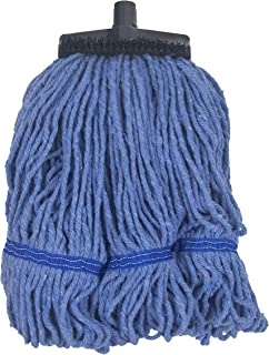 Continental Commercial Products Muscle Mop Patented 4-Fiber Looped End, Large Commercial 6-pack Mop (Blue)