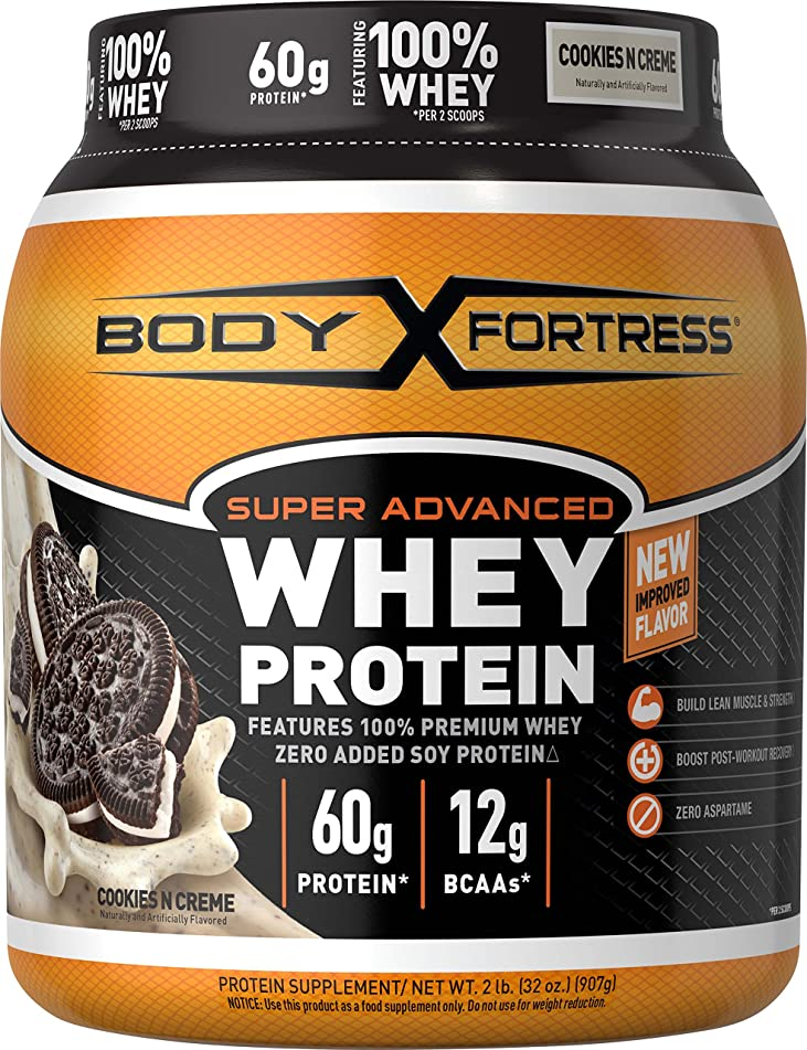 Body Fortress Super Advanced Whey Protein Powder, Cookies N' Cream, 2 lbs
