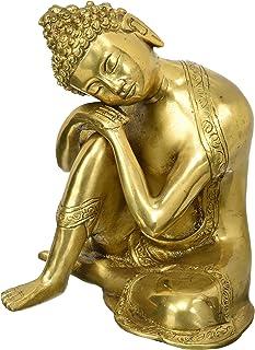 Buddhist Statue Large Brass Buddha Statue - Sleeping Resting