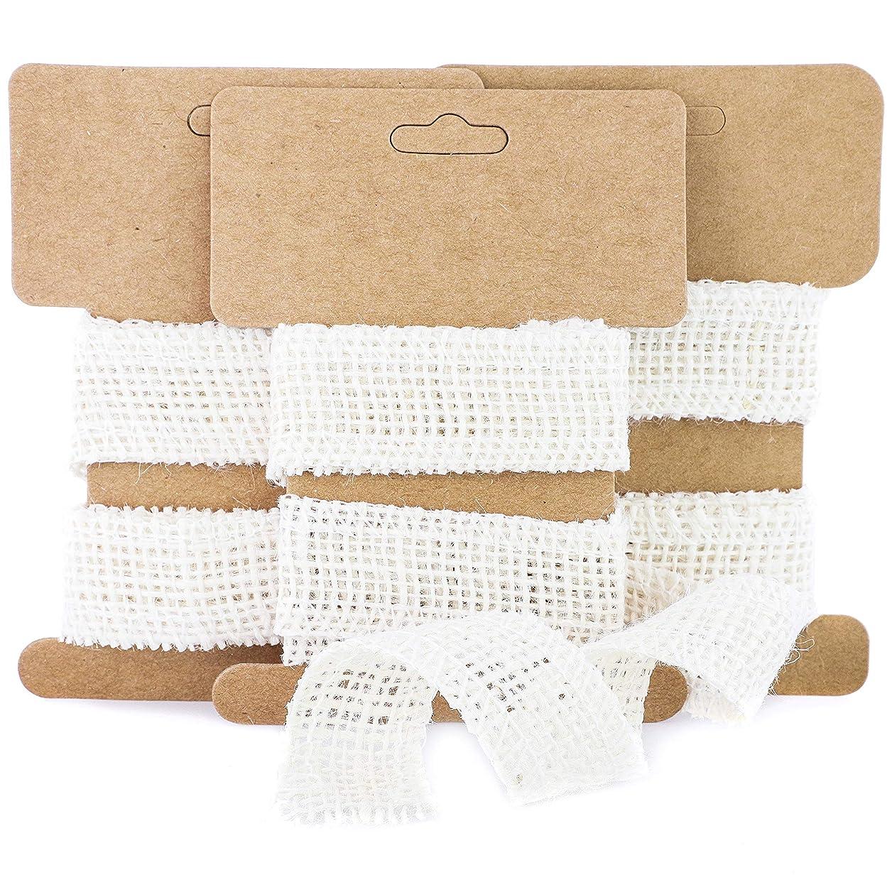 Genie Crafts 24 Rolls White Burlap Fabric 1 Inch Wide Ribbon for DIY Crafts, 1 Yard Long ryrqdgzvlvcwlrnz