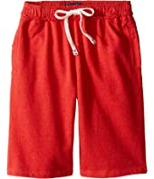 Toobydoo - Red Camp Shorts w/ White Tie (Infant/Toddler/Little Kids/Big Kids)