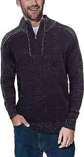 mock neck zip sweater