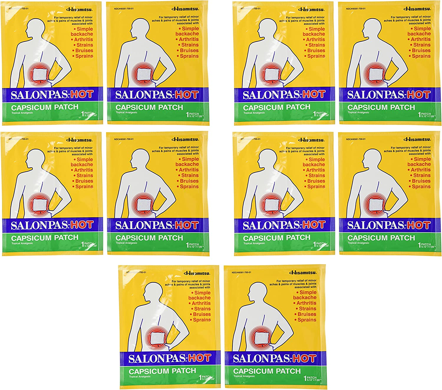 Salonpas SEAL limited product Hot Capsicum Count Patch Kansas City Mall 10