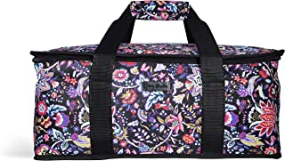 Vera Bradley Insulated Casserole Dish Carrier with Zip Closure and Handles, Thermal Bag Fits Up To Two 9x13 Baking Dishes, Foxwood Floral