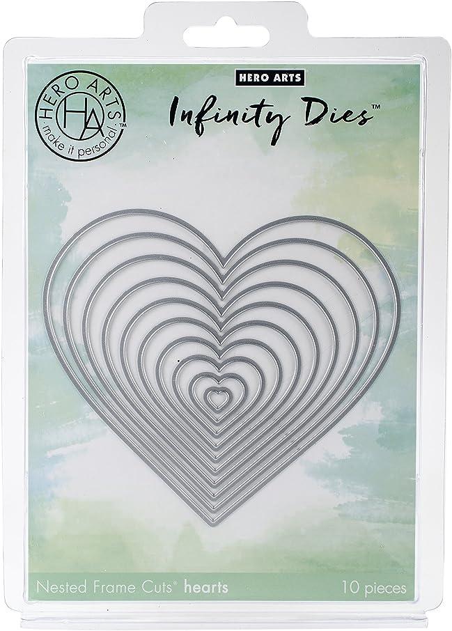 Hero Arts DI334 Infinity Dies, Nesting Hearts