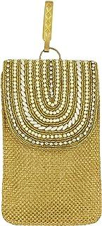Surbhi Jute Saree Clutch Mobile Pouch Waist Clip Ladies Purse Gift for Women