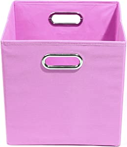 Modern Littles Folding Storage Bin  Rose Solid Pink