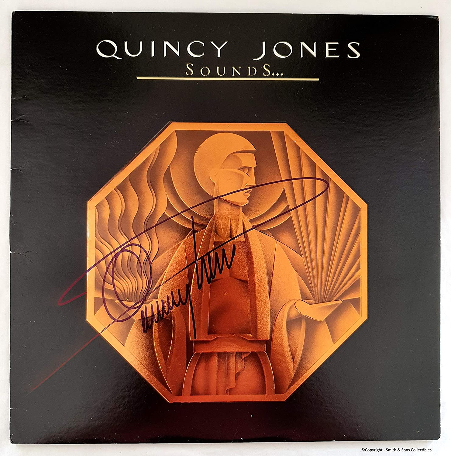 It is very popular Quincy Jones Autographed 'Sounds' Record - LP COA #QJ58894 Indianapolis Mall