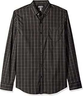 Van Heusen Men's Flex Long Sleeve Button Down Stretch Windowpane Shirt