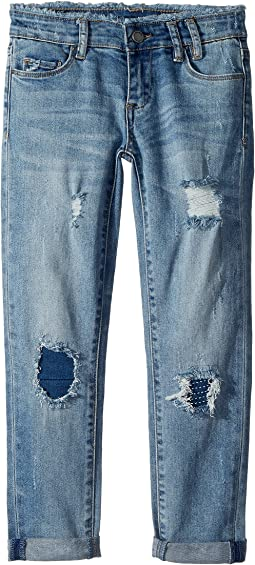 Blank NYC Kids - Distressed Relaxed Skinny in Cloud Nine (Big Kids)