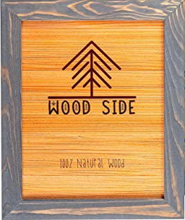 Rustic Wooden Picture Frame 8x10-100% Natural Eco Solid Wood for Wall Mounting Photo Frame - Grey