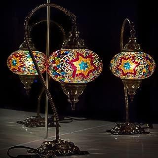 (31 Models) Table Swan Neck Lamp Mosaic Shade, 2019 Hanging Stunning Handmade 16.5