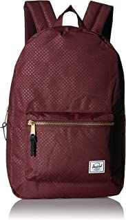 Herschel Settlement Backpack with 15'' Laptop Sleeve and Front Storage Pocket, Plum Dot Check, Classic 23L