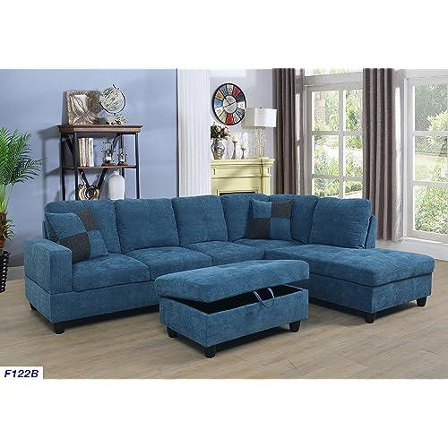 Blue Sectional Sofas: Amazon.com