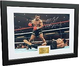 Kitbags & Lockers Mike Tyson vs Trevor Berbick 'DAWNING OF A NEW ERA' 12x8 A4 gesigneerd gesigneerd foto fotolijst Boksen Gift 1