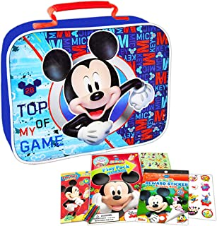 Mickey Mouse Lunch Box Travel Activity Set ~ Insulated Mickey Mouse Lunch Bag with Mickey Mouse Coloring Pack, Games, Stic...