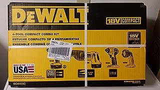 DEWALT DCK425C 18V Compact Cordless 4-Tool Combo Kit