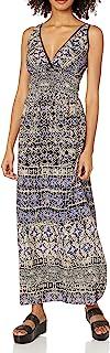 Women's Blue Printed Maxi Dress