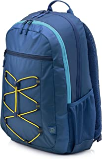 "HP 15.6"" Active Backpack, Navy Blue/Yellow - 1LU24AA"