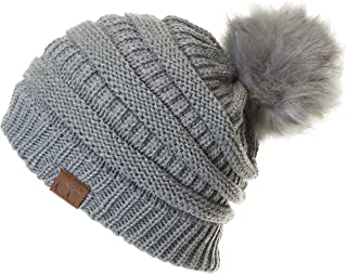 Hatsandscarf Exclusives Unisex Solid Ribbed Beanie with...