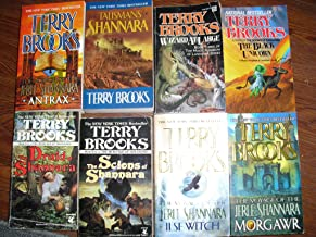 Terry Brooks 8 Paperback Books The Druid of Shannara/The Scions of Shannara/The Voyage of the Isle Witch, Morgawr,Antrax/T...