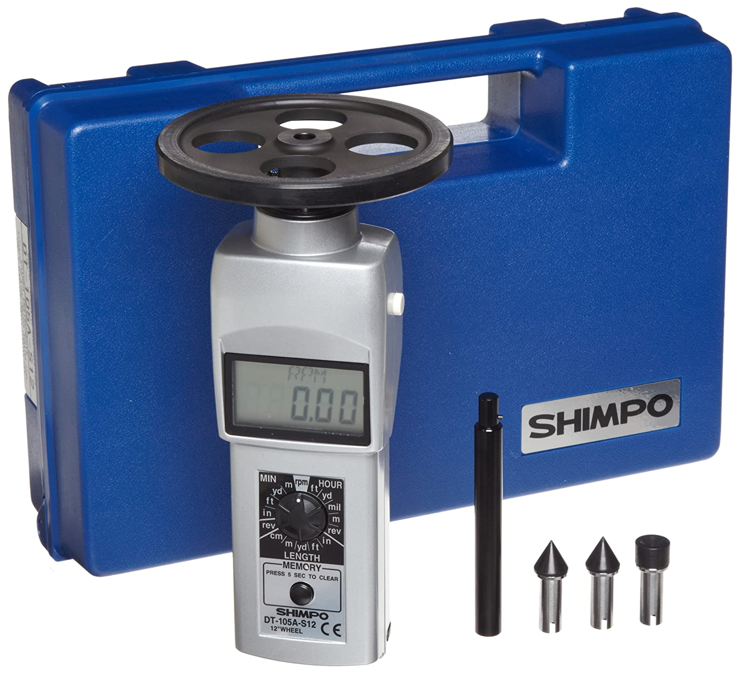 Shimpo DT-105A-S12 excellence Handheld shipfree Tachometer with Displ 12