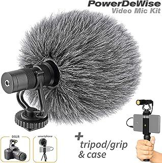 میکروفون تصویری - میکروفون دوربین یک طرفه برای دوربین ها و تلفن های DSLR - میکروفون آیفون تصویری کاردیویدی جهت دار