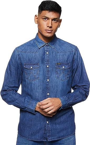 Wrangler Western-Shirt Camisa para Hombre