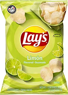 Lay's Potato Chips, Limon Flavor, 7.75oz Bag (Packaging May Vary)
