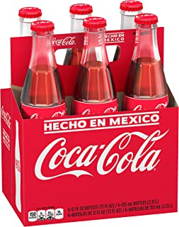 Mexican Coca-Cola Glass Bottles, 12 fl oz, 6 Pack