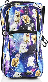 KANDYPACK Rave Hydration Pack Backpack with Water Bladder (Galaxy Dog)